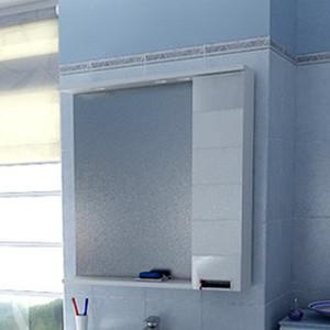 Зеркало-шкаф Aquanet Сити 90 белый L (158577) шкаф зеркало aquanet сити 85 венге 149014