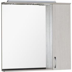 Зеркало-шкаф Aquanet Донна 90 беленый дуб (169178) угловой шкаф премиум 82х45х240 см беленый дуб