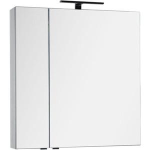 Зеркало-шкаф Aquanet Эвора 80 серый антрацит (184026) шкаф пенал aquanet алвита 40 серый антрацит 183993