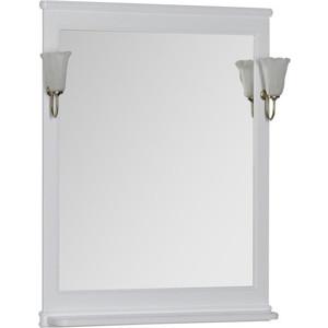 Зеркало Aquanet Валенса 70 белое (180150) зеркало шкаф triton диана 70 левостороннее белое