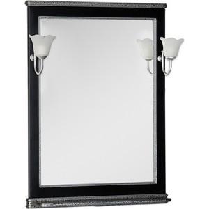 цены Зеркало Aquanet Валенса 70 черный краколет/серебро (180298)
