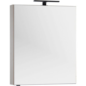 Зеркало-шкаф Aquanet Алвита 70 капучино (183985) шкаф пенал aquanet алвита 40 серый антрацит 183993