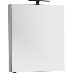 Зеркало-шкаф Aquanet Алвита 70 серый антрацит (183990) шкаф пенал aquanet алвита 40 серый антрацит 183993
