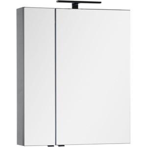 Зеркало-шкаф Aquanet Эвора 70 серый антрацит (184025) зеркало шкаф triton диана 70 левостороннее белое