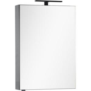 Зеркало-шкаф Aquanet Эвора 60 серый антрацит (184024) шкаф пенал aquanet алвита 40 серый антрацит 183993