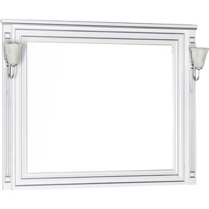 Зеркало Aquanet Паола 120 белое (181768) классическое зеркало comforty монако 120 белое