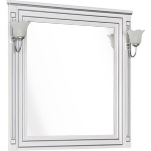 Зеркало Aquanet Паола 90 белое (181769) комплект мебели aquanet паола 182134