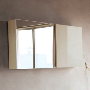 Зеркало-шкаф BelBagno Luce 100 tortora lucido (BB1000PAC/TL) раковина belbagno luce 80 bb800ab