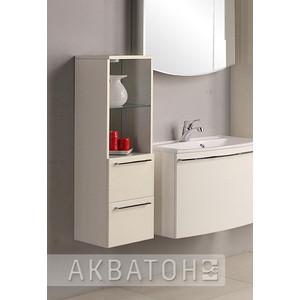 Шкаф-пенал Акватон Севилья белый жемчуг низкий (1A126703SEG30) зеркальный шкаф акватон севилья 95 1a125602se010