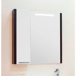 Зеркало-шкаф Акватон Брайтон 80 венге (1A186102BR500) зеркало шкаф aquaton крит 65 венге