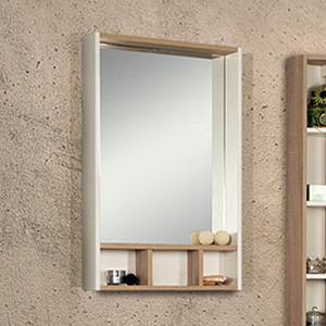 Зеркало Акватон Йорк 60 белый/дуб сонома (1A170102YOAD0) акватон йорк белый ясень фабрик 1a171403yoav0