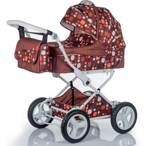 Коляска 2 в 1 BabyHit Evenly Plus Коричневый (EVENLY Plus BROWN) коляска 2 в 1 babyhit evenly plus бежевый evenly plus beige