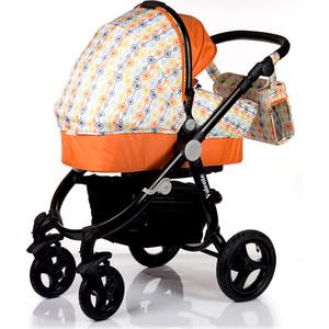 Коляска 2 в 1 BabyHit Valente Бело-оранжевый (VALENTE WHITE ORANGE) babyhit babyhit электромобиль детский storm оранжевый