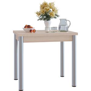 Стол обеденный СОКОЛ СО-1м беленый дуб маленький круглый стеклянный стол на кухню кубика шанхай к стекло темно коричневое беленый дуб