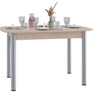 Стол обеденный СОКОЛ СО-3м беленый дуб маленький круглый стеклянный стол на кухню кубика шанхай к стекло темно коричневое беленый дуб