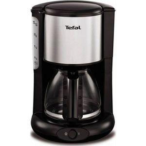 Кофеварка Tefal CM361838 серебристый/черный кофеварка tefal cm361e38 черный красный
