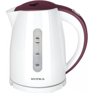 Чайник электрический Supra KES-1704 белый/бордовый