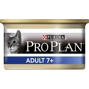 Консервы PRO PLAN Adult Cat Vital Age 7+ Mousse with Tuna мусс с тунцом для кошек старше 7 лет 85г (12171996) корм для птиц vitakraft menu vital для волнистых попугаев основной 1кг