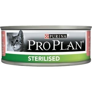 Консервы PRO PLAN Adult Cat Sterilised Pate with Tuna & Salmon паштет с тунцом и лососем для стерилизованных кошек 85г (12171995) сухой корм hill s natures best adult with tuna с тунцом и овощами для кошек 2кг 4199