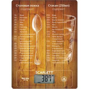 Кухонные весы Scarlett SC-KS57P19 рисунок весы напольные scarlett sc bsd33e894