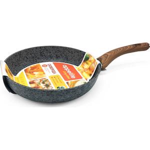 Сковорода d 28 см Appetite Grey Stone (GR2281) сковорода appetite dark stone с антипригарным покрытием диаметр 28 см