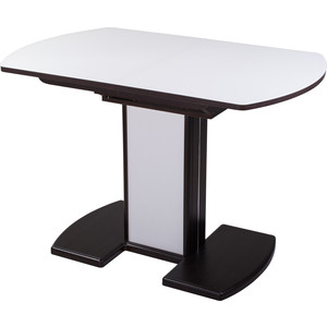 Стол Домотека Чинзано ПО (ВН ст-БЛ 05 ВП ВН/БЛ) стол домотека гамма пр вн ст бл 07 вп вн