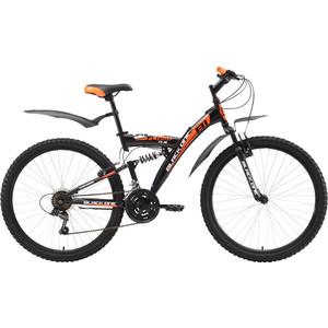 Велосипед Black One Flash FS 26 черно-оранжевый 16 велосипед challenger mission lux fs 26 черно красный 16