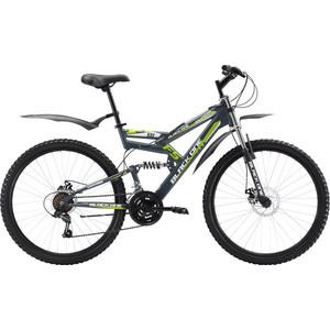 Велосипед Black One Hooligan FS 26 D серо-зеленый 18 велосипед challenger mission lux fs 26 черно красный 16