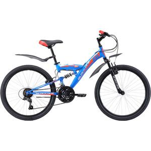 Велосипед Black One Ice FS 24 сине-красный велосипед challenger mission lux fs 26 черно красный 16