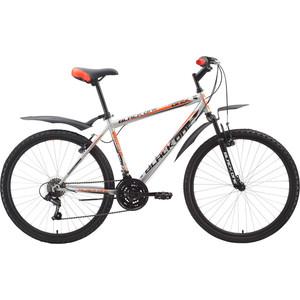 Велосипед Black One Onix серебристо-оранжевый 18''