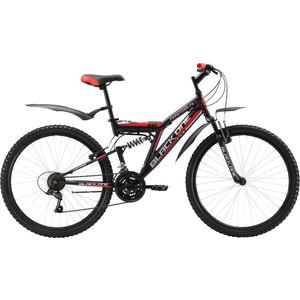 Велосипед Black One Phantom FS 26 черно-красный 16 black one велосипед black one flash черно красный 16