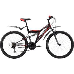 Велосипед Black One Phantom FS 26 черно-красный 18 велосипед challenger mission lux fs 26 черно красный 16