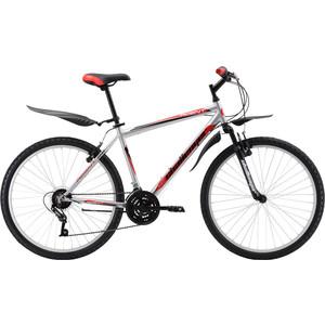 Велосипед Challenger Agent 26 серебристо-красный 18'' велосипед challenger mission lux fs 26 черно красный 16