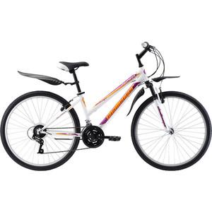 Велосипед Challenger Alpina 26 бело-фиолетовый 16 challenger велосипед challenger mission fs 26 2018 жёлтый красный чёрный 16
