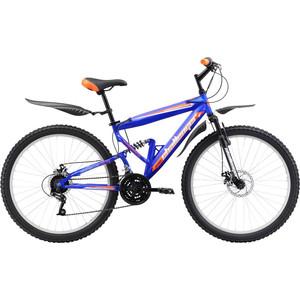 Велосипед Challenger Desperado FS 26 D сине-оранжевый 18'' challenger велосипед challenger mission lux fs 26 2017 черно красный 20