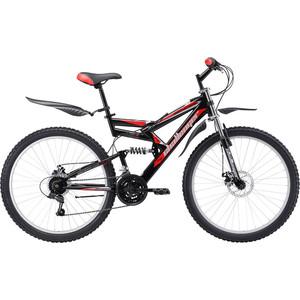 Велосипед Challenger Genesis Lux FS 26 D черно-красный 16'' challenger велосипед challenger mission fs 26 2018 жёлтый красный чёрный 16