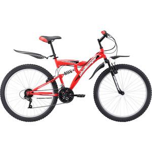 Велосипед Challenger Mission FS 26 красно-черный 16''