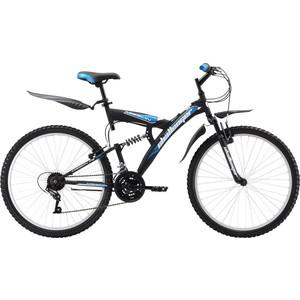 Велосипед Challenger Mission FS 26 черно-синий 18''