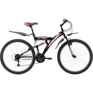 Велосипед Challenger Mission Lux FS 26 черно-красный 16'' challenger велосипед challenger mission fs 26 2018 голубой красный чёрный 16