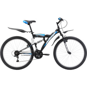 Велосипед Challenger Mission Lux FS 26 черно-синий 16''