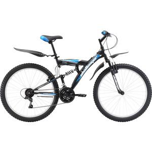 Велосипед Challenger Mission Lux FS 26 черно-синий 16'' challenger велосипед challenger mission fs 26 2018 голубой красный чёрный 16