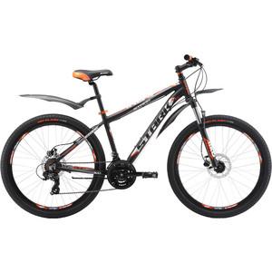 Велосипед Stark Indy 26.2 HD черно-оранжевый 16 велосипед challenger mission lux fs 26 черно красный 16