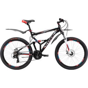Велосипед Stark Jumper 26.2 FS D черно-красный 16 велосипед challenger mission lux fs 26 черно красный 16