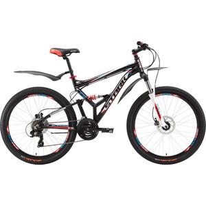 Велосипед Stark Jumper 26.2 FS HD черно-красный 20 велосипед challenger mission lux fs 26 черно красный 16