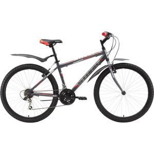 Велосипед Stark Respect 26.1 RV серо-красный 16 велосипед challenger mission lux fs 26 черно красный 16