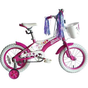 Велосипед Stark Tanuki 14 Girl розово-белый