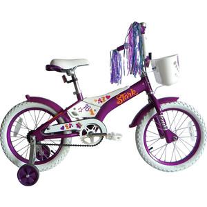 Велосипед Stark Tanuki 16 Girl фиолетово-белый