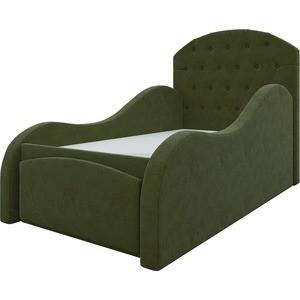 Детская кровать АртМебель Майя микровельвет зеленый y back padded bandeau cami top
