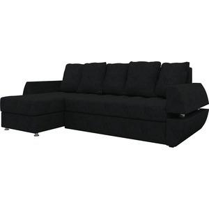 Диван угловой АртМебель Атлант УТ микровельвет черный левый диван угловой артмебель атлант ут микровельвет коричн левый