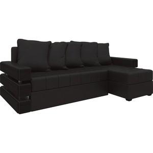 Диван угловой АртМебель Венеция эко-кожа Коричневый правый диван угловой артмебель орион правый коричневый